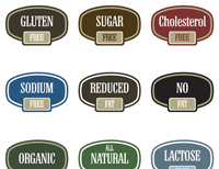 picture relating to Free Printable Food Labels referred to as Cost-free Printable Food items Labels for Property Small business