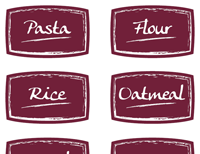 picture about Printable Food Labels named Absolutely free Printable Food stuff Labels for Residence Business