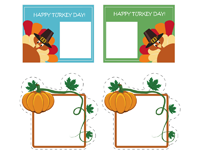 thanksgiving food stickers